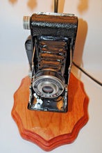 Load image into Gallery viewer, Vintage Photo Camera Table Lamp.Handmade Photo Camera Table Lamp.Vintage Photo Camera.Olga's Treasures Shop
