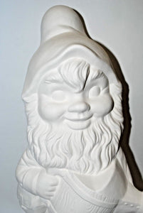 "Large  Gnome.Paint your Own Garden Gnome.Ready to Paint Ceramic Bisque Gnome.Olga""s Treasures Shop"