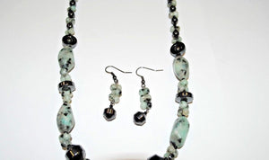 Kiwi Jasper and Hematite Gemstone.