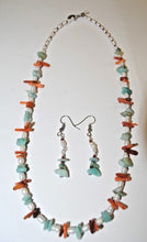 Load image into Gallery viewer, Amazonite,Freshwater Pearls and Coral Chips.