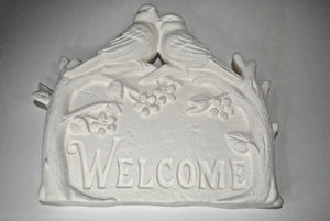 Welcome Sign Plaque.