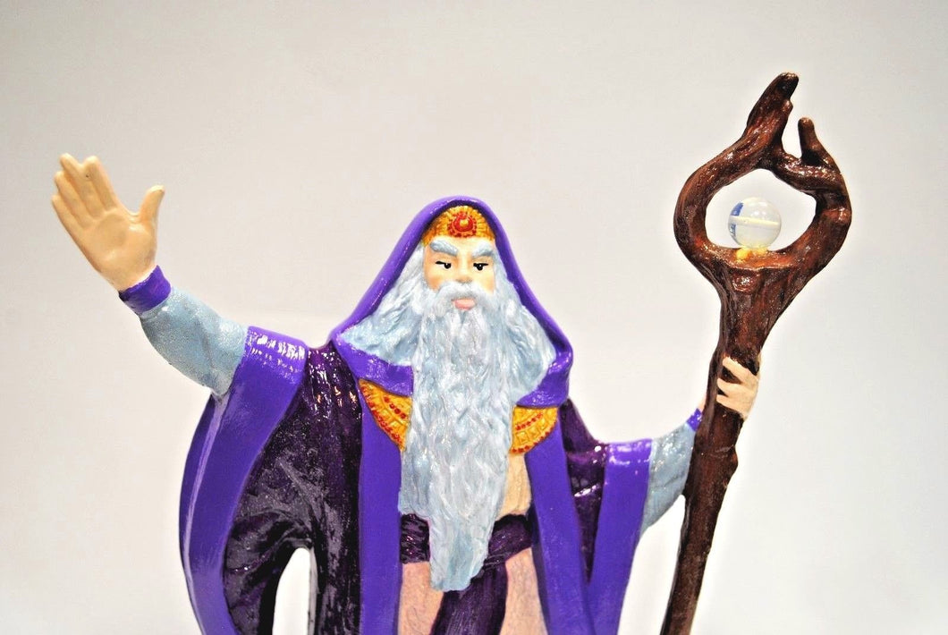 Fall Wizard.Ceramic Fall Wizard.Handmade Wizard.Doc Holliday Wizard.Hand Painted Wizard.Fantasy Figurines.Olga's Treasures Shop