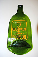 Load image into Gallery viewer, Flat Bottle serving Tray,Flat Bottle Wall Decor,Wine Flat Bottle Keep Calm and Pour On.Olga's Treasures Shop