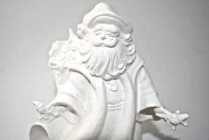 santa Clause Ceramic Bisque .Santa Clause Figurine ready to Painted.Paint you own Santa Figurine.Olga's Treasures Shop