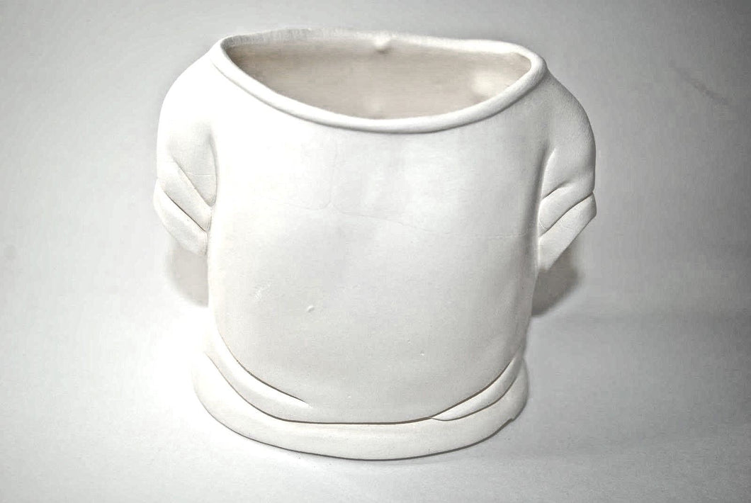 Tee-Shirt Ceramic Bisque Planter.Ready-To-Paint Tee-Shirt Planter.Little Shirt  Planter.Olga's Treasures Shop