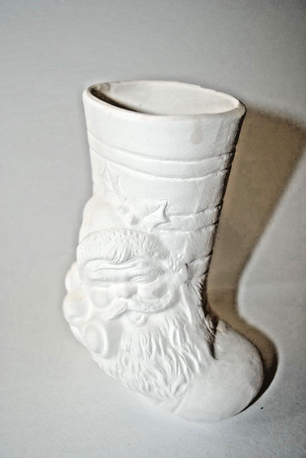Shoes.Santa Clause Ceramic Boots Ready to be Paint.