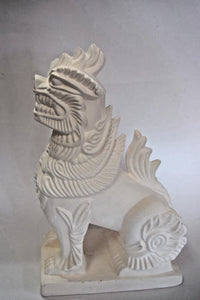 Foo Dog.Ceramic Bisque Foo Dog Statue.Painted by You Own .