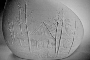 Ready-To-Paint Cabin in the Woods Vase.Paint-You-Own Vase.Ceramic Ready to Paint.Beautiful Unfinished Vase