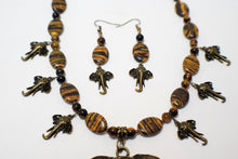 Load image into Gallery viewer, African Elephant and  Beaded Necklace Set
