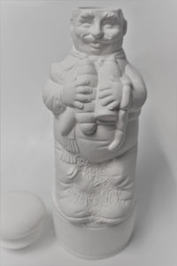 Ceramic Bottle of Chef Cook for Oil or Vinegar Ready to Paint
