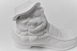 Kitten with Hat in a Shoe Ready to Paint