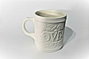 Love Coffee Mug Unpainted( Ready to Paint)