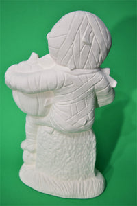 Large Sitting Mummy with Pumpkins ( Ready to Paint)
