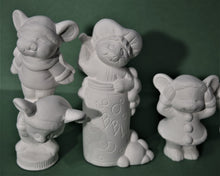 Load image into Gallery viewer, U-painted Ceramic Bisque Small Mice Set.