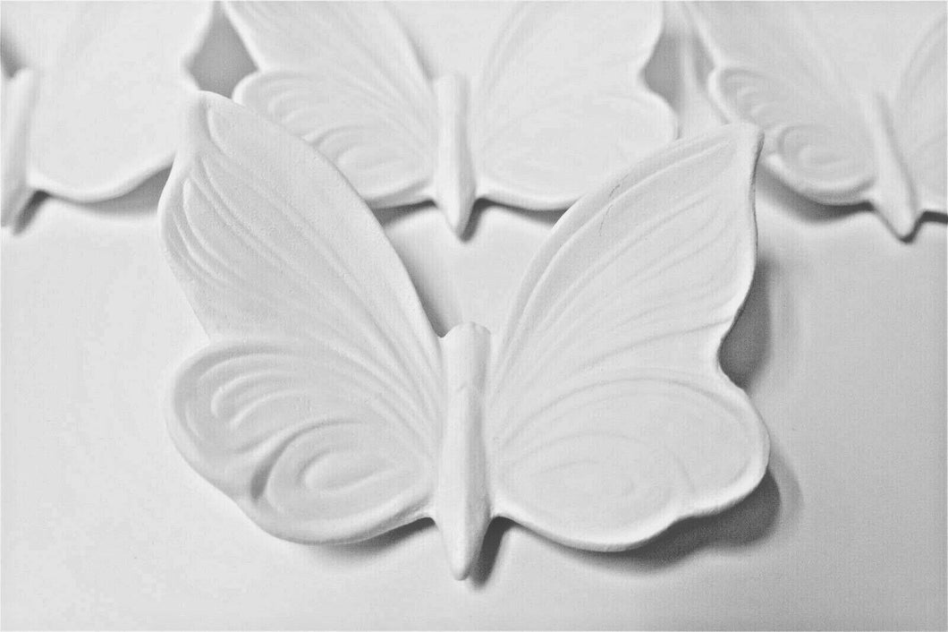 Set of 4 Butterflies Plaque Ready to Paint