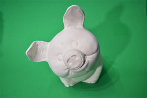 Piggy Bank Ceramic Bisque Ready to Paint.