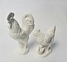 Load image into Gallery viewer, Rooster and Hen Ready to Paint.
