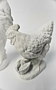 Rooster and Hen Ready to Paint.