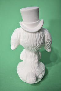 Bunny with Hat and Cane Ready to Paint.