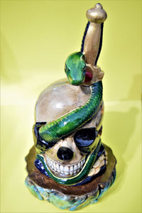 Skull with Base Incense Burner.