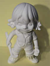 Load image into Gallery viewer, Ceramic Smiley Girl Hockey Ready to Paint