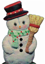 Load image into Gallery viewer, Snowman with Broomstick Ready to Paint.