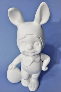 Smiley Bunny Atlantic Ceramic  Mold Ready to Paint.