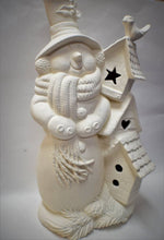 Load image into Gallery viewer, Snowman Ceramic Bisque