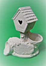 Load image into Gallery viewer, Large Birdhouse and Planter Ready to Paint