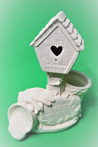 Large Birdhouse and Planter Ready to Paint