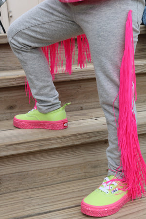 Neon Fringe Jeggings