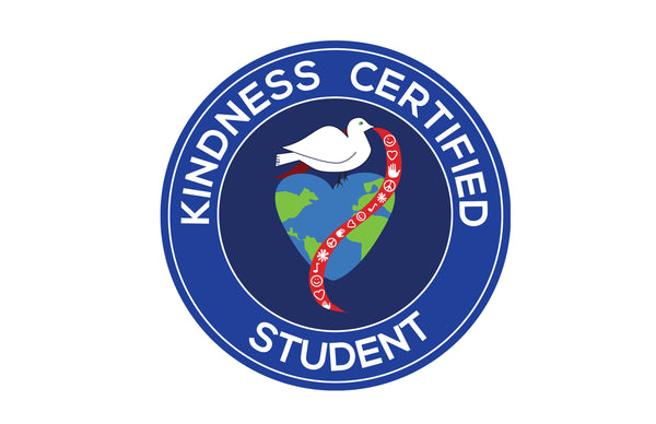 Kindness Certified Student Sticker – 40 Stickers Per Sheet