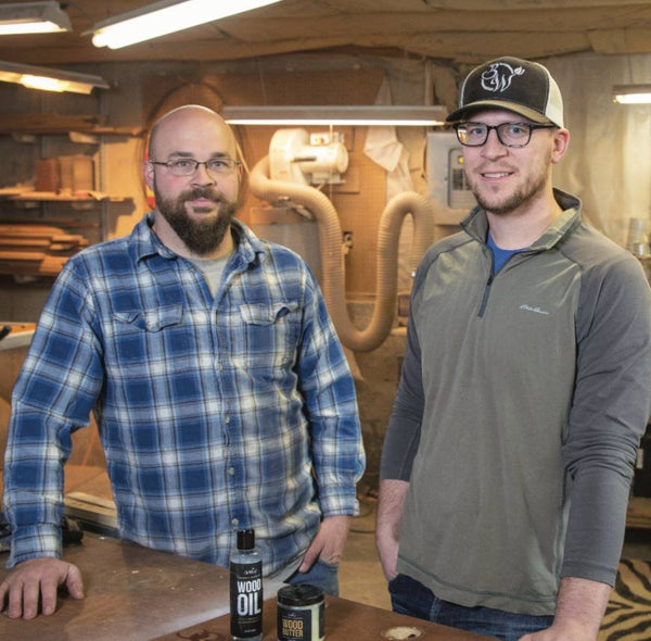 Vinton's T.J. Bowen and Payton Schirm each bring their own talents to the table of their woodworking business, BoWood Company, that specializes in hand-made kitchen utensils, serving trays and cutting boards.