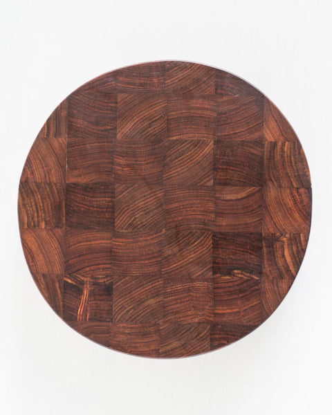 This end grain cutting board features rich and colorful wood variations only found in exotic hardwoods from around the world.