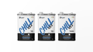 CHILL ICE 2™ is a low viscosity, optical quality, transparent epoxy resin. Ideal for casting epoxy rivers into wood tables. The CHILL ICE 2™ is perfect for bubble-free casting after less than 5 to 10 minutes.