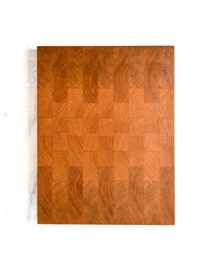 "Small Cherry End Grain Cutting Board - 12"" x 8"" x 1.5"""