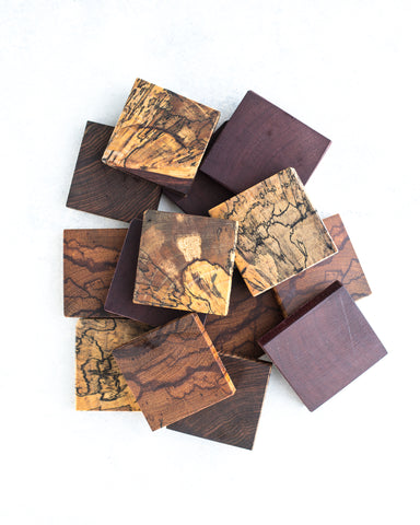These wood coasters are made from exotic wood from around the world that will give you a unique natural grain and texture in each piece.