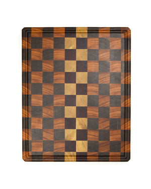 "Extra Large Checkered End Grain Cutting Board - 24"" x 16"" x 2"""