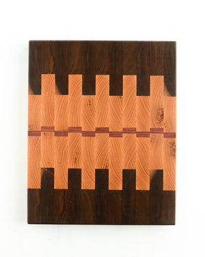 "Large Oak End Grain Cutting Board - 16"" x 12"" x 1.5"""
