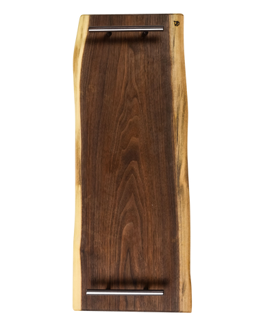 These Walnut Live Edge Serving Trays are the perfect choice when serving your favorite charcuterie on a beautiful wood tray. Each piece is unique, showing the grain patterns to create true art straight from nature.