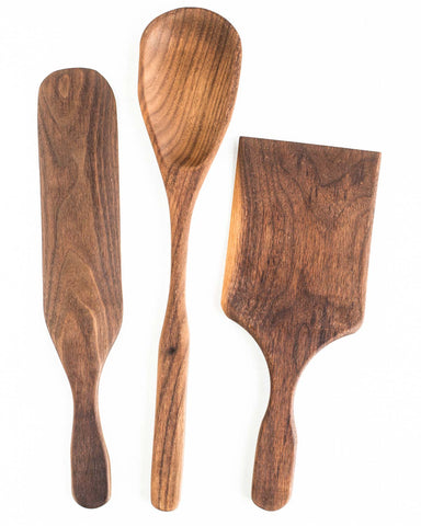 The BoWood ultimate baking set includes a spoon, spurtle and cookie spatula that are sure to do everything you need to bake in your kitchen.