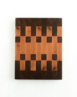 "Small Oak End Grain Cutting Board - 12"" x 9"" x 1.5"""