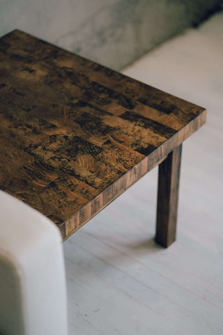 Square End Grain Spalted Maple End Table