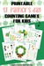 free printable st. patrick's day counting games for kids