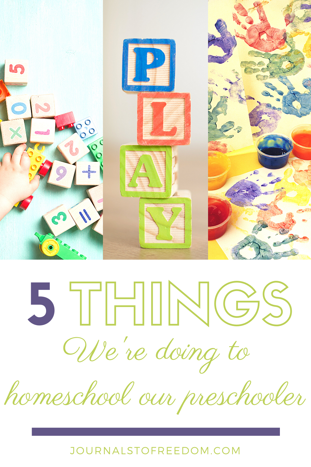 5 Things We Are Doing To Homeschool Our Preschooler