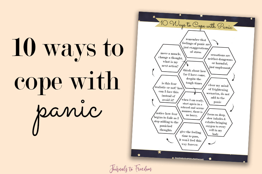 10 Ways to Cope with Panic Printable