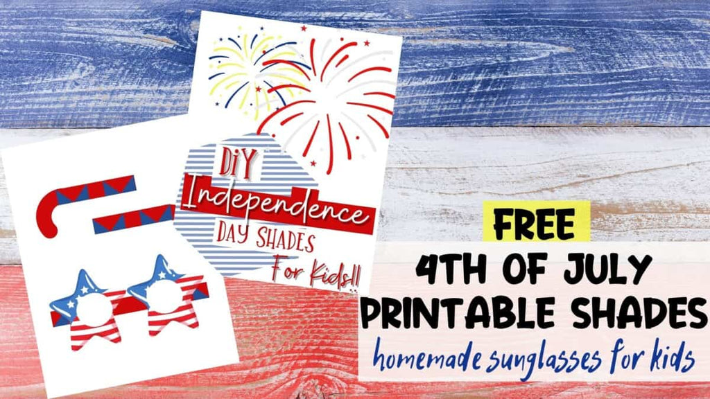 free 4th of July Printable Sunglasses