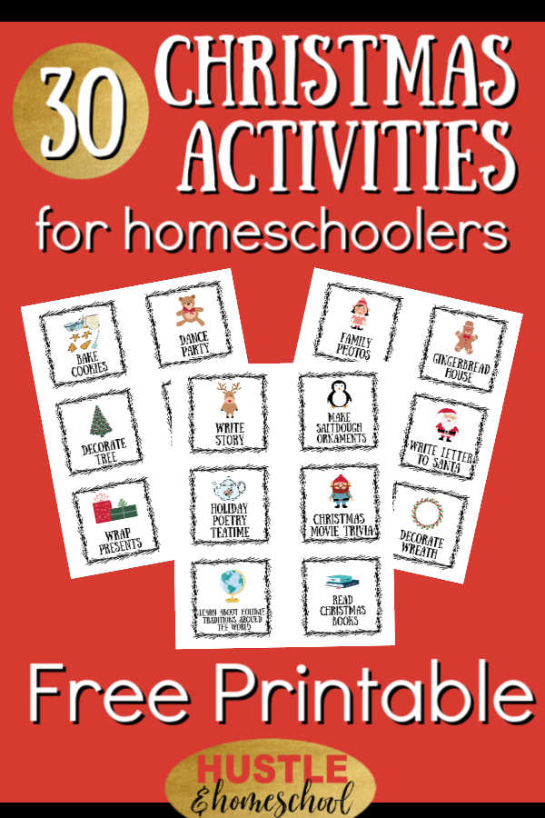 Christmas Activities for Homeschoolers Free Printable
