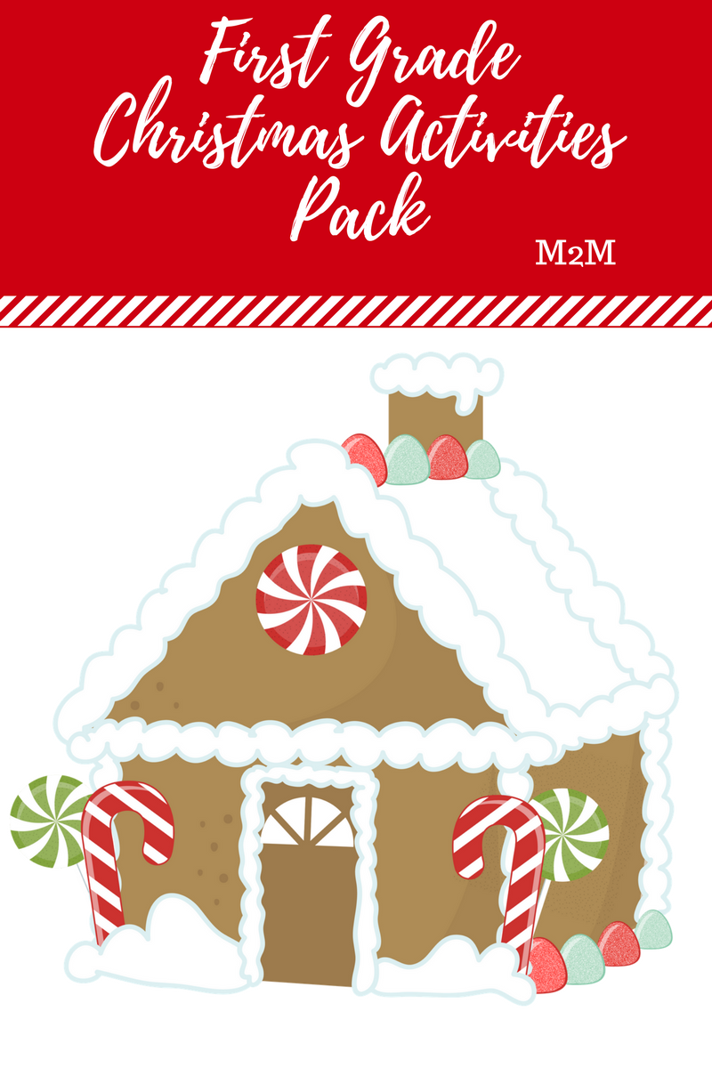 Free First Grade Christmas Activities Pack