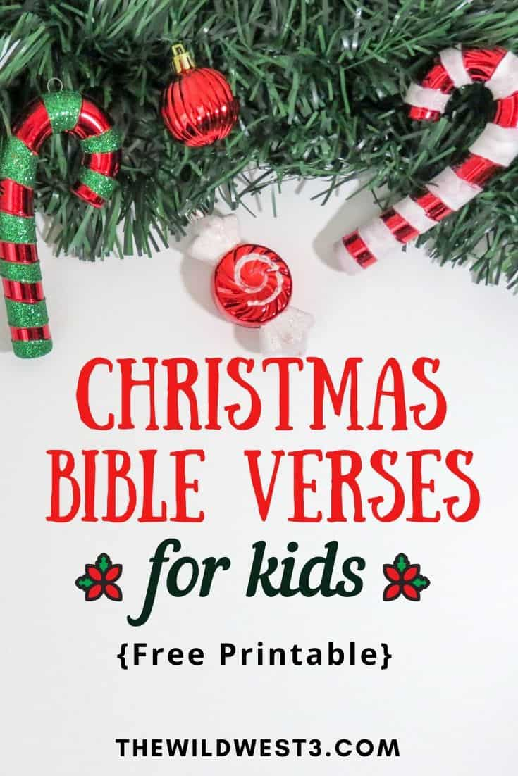 Christmas Bible Verses for Kids – Free Printable Memory Verses